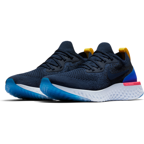 Women's Epic React Flyknit Running Shoe - College Navy/College Navy/Racer Blue