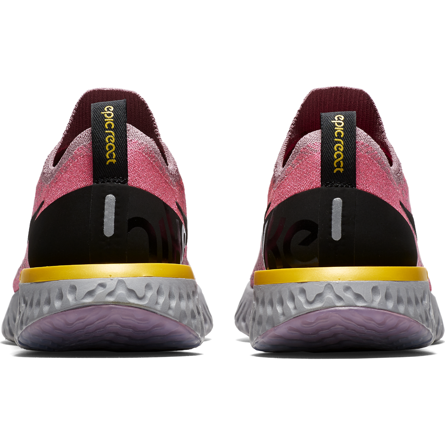 c34d3dc26874 ... buy womens epic react flyknit running shoe plum dust black pink blast  amarillo. nike 8603d