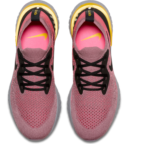 Women's Epic React Flyknit Running Shoe - PLUM DUST/BLACK-PINK BLAST-AMARILLO