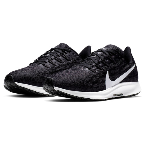 Women's Air Zoom Pegasus 36 Running Shoes - Black/White/Thunder Grey
