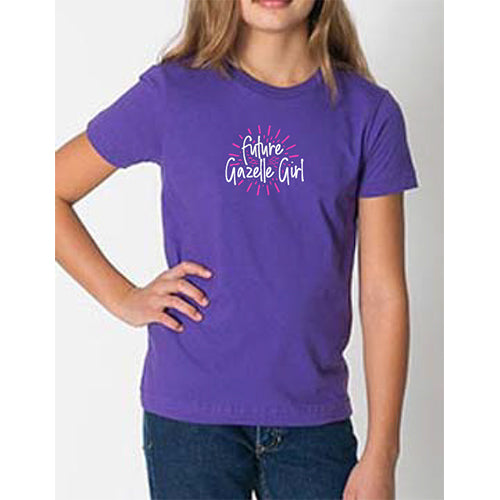 Youth Gazelle Girl Fine Jersey Short Sleeve Tee - Purple