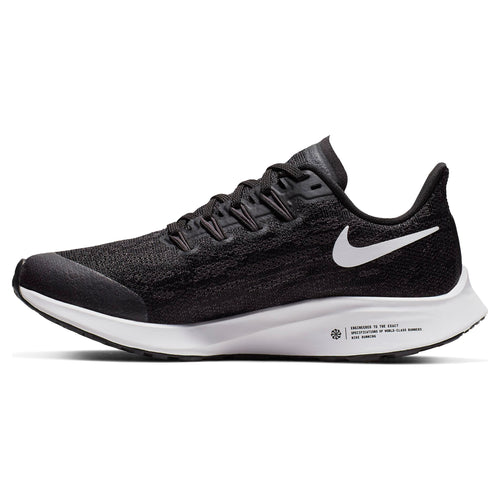 Kids' Air Zoom Pegasus 36 Running Shoe - Black/White/Thunder Grey