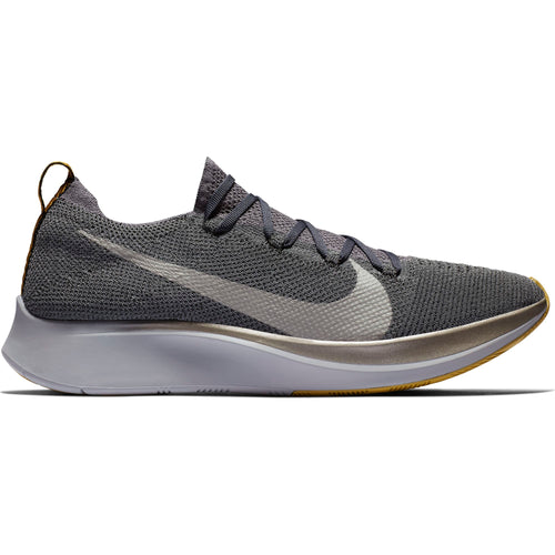 Men's Zoom Fly FlyKnit Running Shoe - Dark Grey/Metallic Pewter/Black