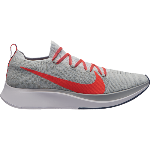 Men's Zoom Fly FlyKnit Running Shoe - Pure Platinum/Bright Crimson