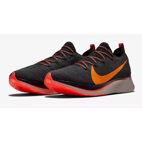Men's Zoom Fly FlyKnit Running Shoe - Black/Orange Peel/Flash Crimson
