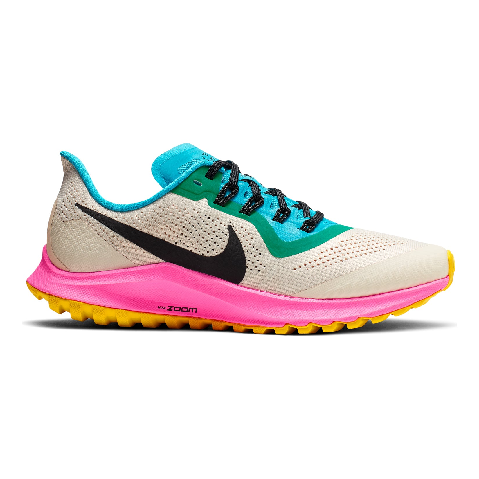 new product 4ced9 183db Women's Air Zoom Pegasus 36 Trail Running Shoe - Lt Orewood Brown/Black  Pink Blast