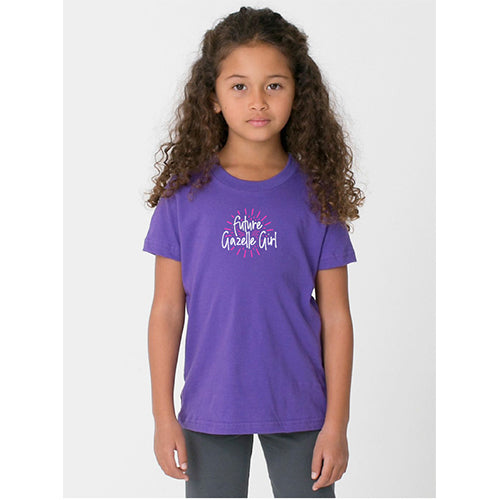 Toddler Gazelle Girl Fine Jersey Short Sleeve Tee - Purple
