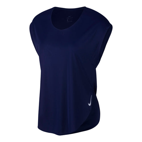 Women's City Sleek Running Top - Blue Void/Reflective Silver