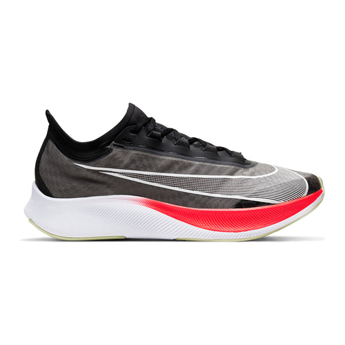 Men's Zoom Fly 3 Running Shoe - Black/White/Laser Crimson/Olive Aura
