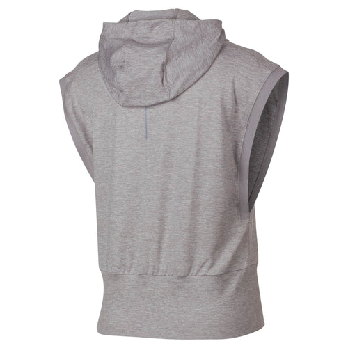Women's Element Sleeveless Running Hoodie - Atmosphere Grey/Heather
