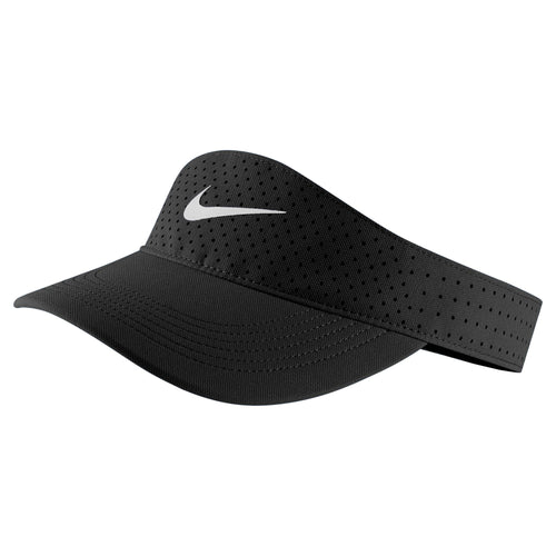 Men's Nike Aerobill Visor - Black/White
