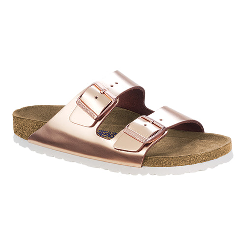Women's Arizona Soft Footbed Metallic Copper Leather