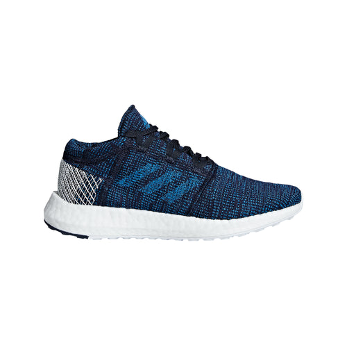 Youth Pure Boost Go Running Shoe - Legend Ink/Bright Blue/Hi-Res Orange
