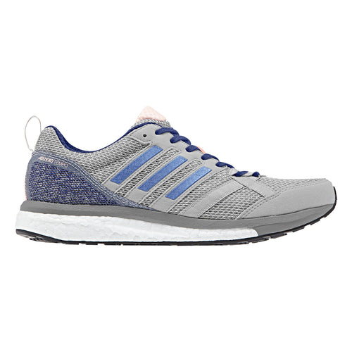 Women's Adizero Tempo 9 Running Shoe - Grey/Real Lilac/Mystery Ink