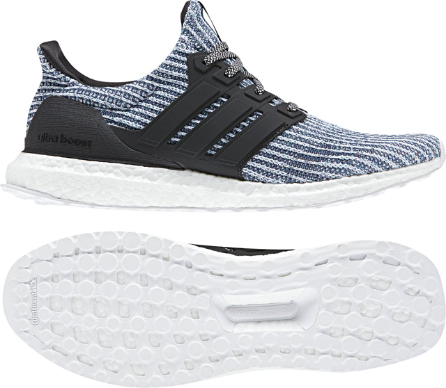 8b50f17325f Men s Ultraboost Parley Running Shoe - White Carbon Blue Spirit – Gazelle  Sports