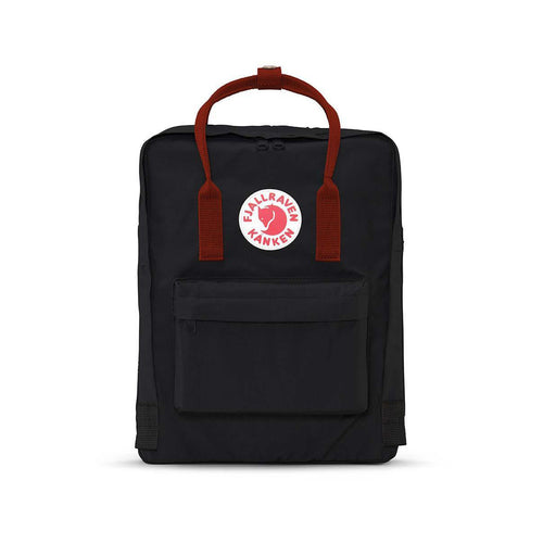 Kanken Backpack - BLACK/OX RED