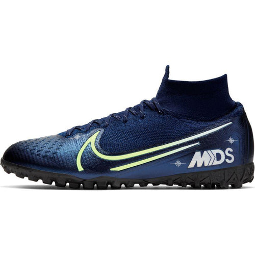 Men's Superfly 7 Elite MDS TF Soccer Cleat - Blue Void/Barely Volt/White/Black
