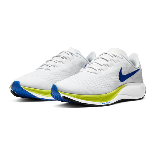 Men's Air Zoom Pegasus 37 Running Shoe - White/Racer Blue/Cyber Black