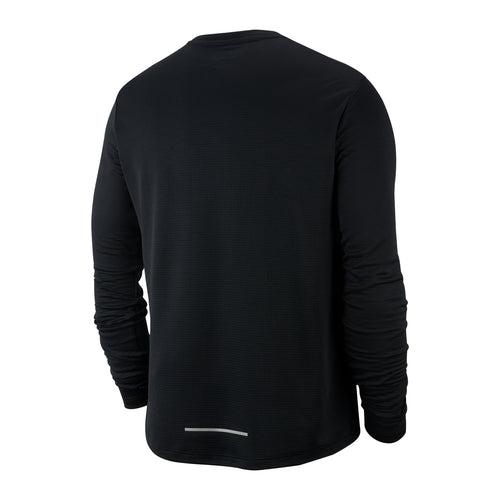 Men's Nike Pacer Crew Top - Black/Reflective Silver