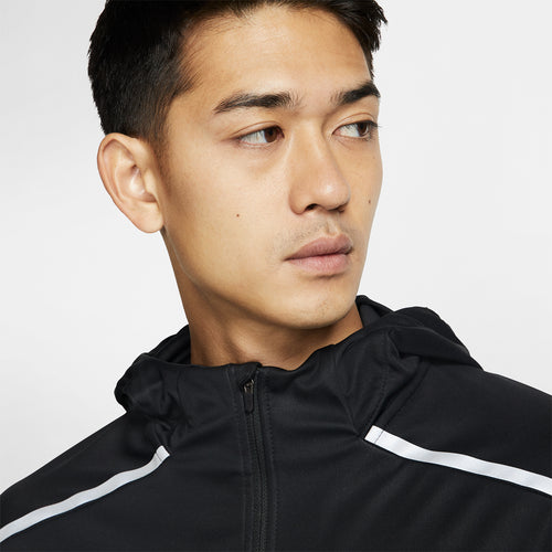 Men's Shield Running Jacket - Black