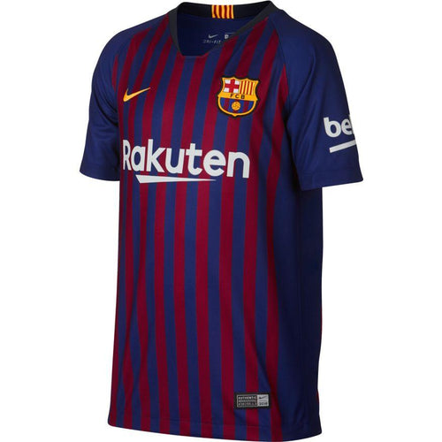 Youth FC Barcelona 2018/19 Home Messi Stadium Jersey - Deep Royal Blue/Deep Royal Blue/Noble Red/University Gold