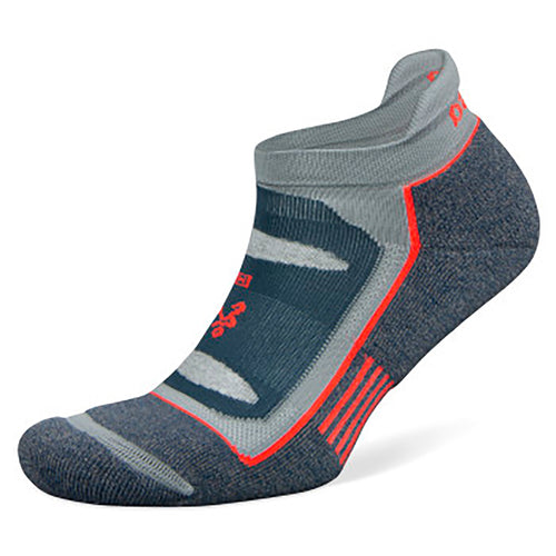 Unisex Blister Resist No Show Socks - Legion Blue/Grey Bleach