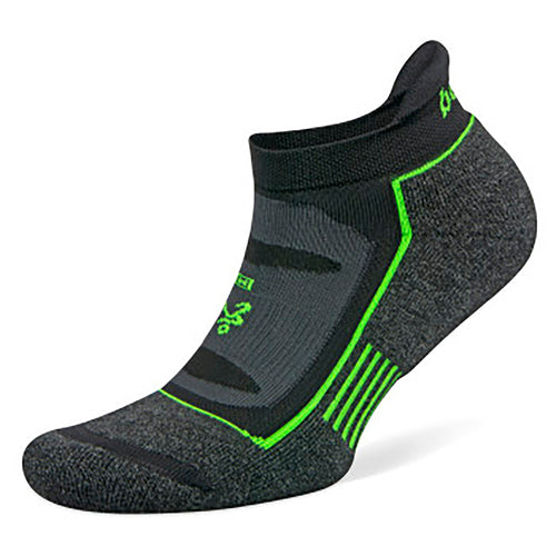Unisex Blister Resist No Show Socks - Charcoal/Black