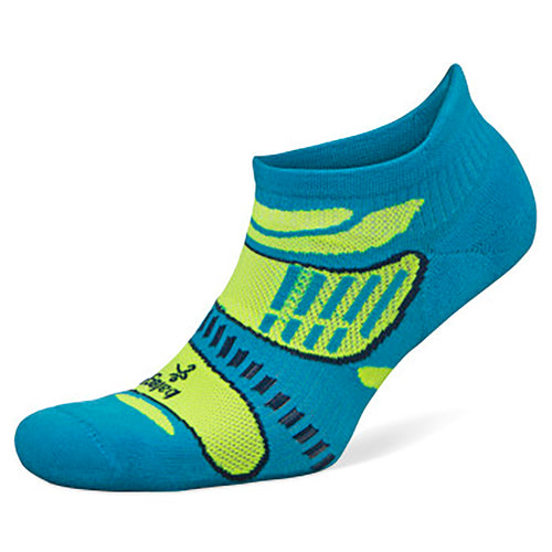 Ultralight No Show Socks - Blue/Lime
