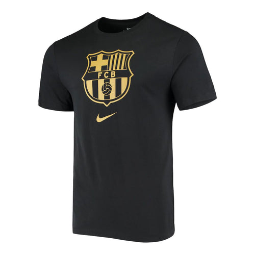 Men's FC Barcelona Evergreen Crest T - Black/Truly Gold