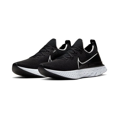 Men's React Infinity Run Flyknit Running Shoe - Black/White/Dark Grey