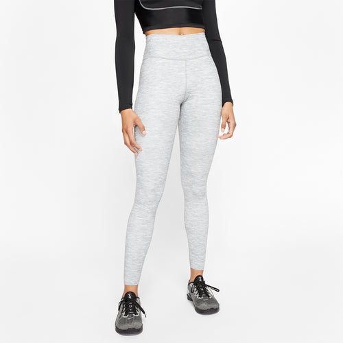 Women's Nike One Luxe Heathered Mid-Rise Tight - Smoke Grey/Clear