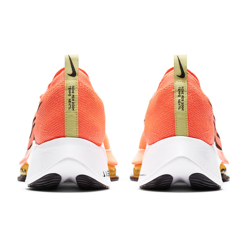 Men's Nike Air Zoom Tempo Next% FK Running Shoe - Bright Mango/Black-Citron Pulse