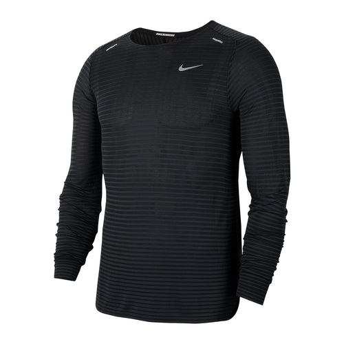 Men's TechKnit Ultra Long Sleeve - Black/Dark Smoke Grey/Reflective Silver