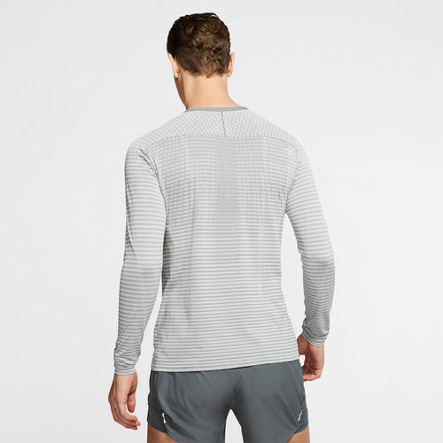 Men's Nike TechKnit Ultra Long Sleeve - Smoke Grey/Light Smoke Grey/Reflective Silver