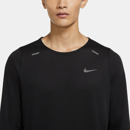 Men's Nike Rise 365 Long Sleeve - Black/Reflective Silver