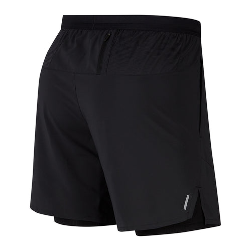"Men's Flex Stride 7"" 2-in-1 Short - Black/Reflective Silver"