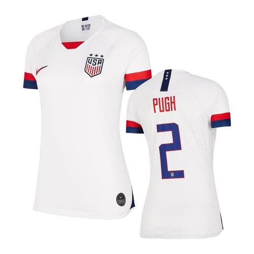 Youth USA 19/20 Pugh Home Jersey - White/Blue Void/University Red/University Red
