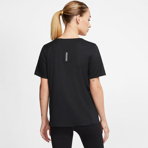 Women's Nike City Sleek Short Sleeve Top - Black
