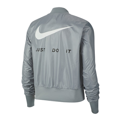 Women's Nike Full-Zip Running Jacket - Particle Grey/Reflective Silver