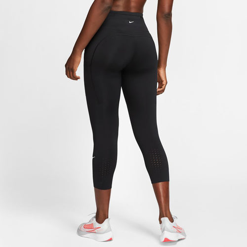 Women's Nike Epic Lux Crop Tights - Black/Reflective Silver