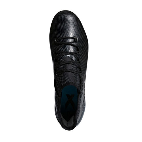 Unisex X 17.1 Firm Ground Soccer Cleat - Core Black / Core Black / Super Cyan