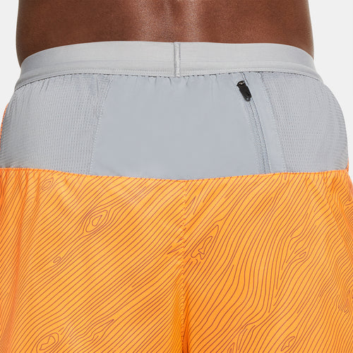 Men's Nike Flex Stride 5in Trail Short - Total Orange/Particle Grey/Mystic Dates