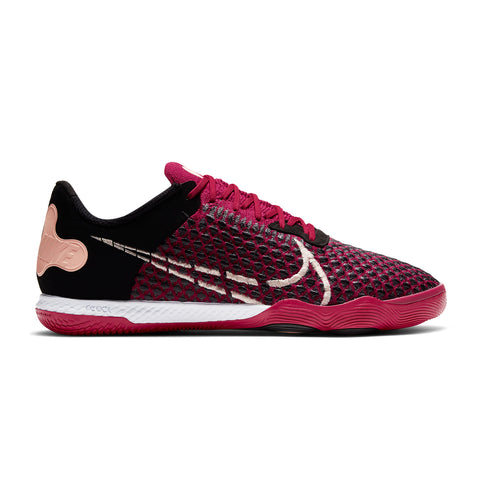 Unisex Nike React Gato Indoor Shoes - Cardinal Red/Crimson Tint/Black