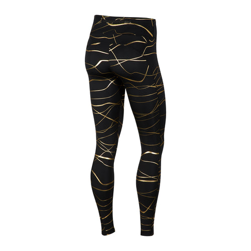 Women's Nike Icon Clash Fast Tight - Black/Metallic Gold