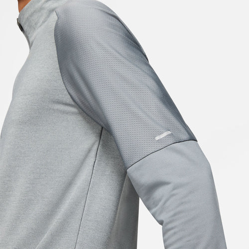 Men's Nike Dri-FIT Element Half Zip Top - Smoke Grey/Grey Fog/Reflective Silver