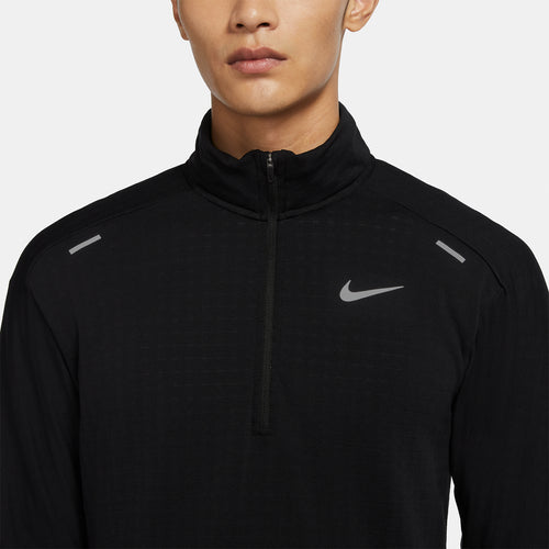 Men's Nike Sphere 3.0 Element Half Zip Top - Black/Black/Reflective Silver