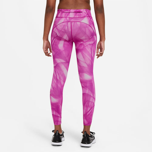 Women's Nike Epic Faster Run Division 7/8 Tight - Red Plum/Reflective Silver