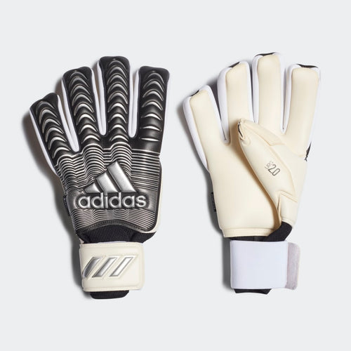 Classic Pro Fingersave Gloves - White / Black / Silver Metallic