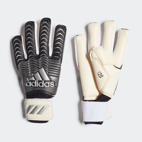 Classic Pro Goalkeeper Gloves - White / Black / Silver Metallic