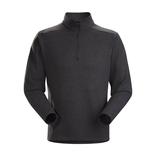 Men's Covert Lightweight 1/2 Zip Top - Black Heather